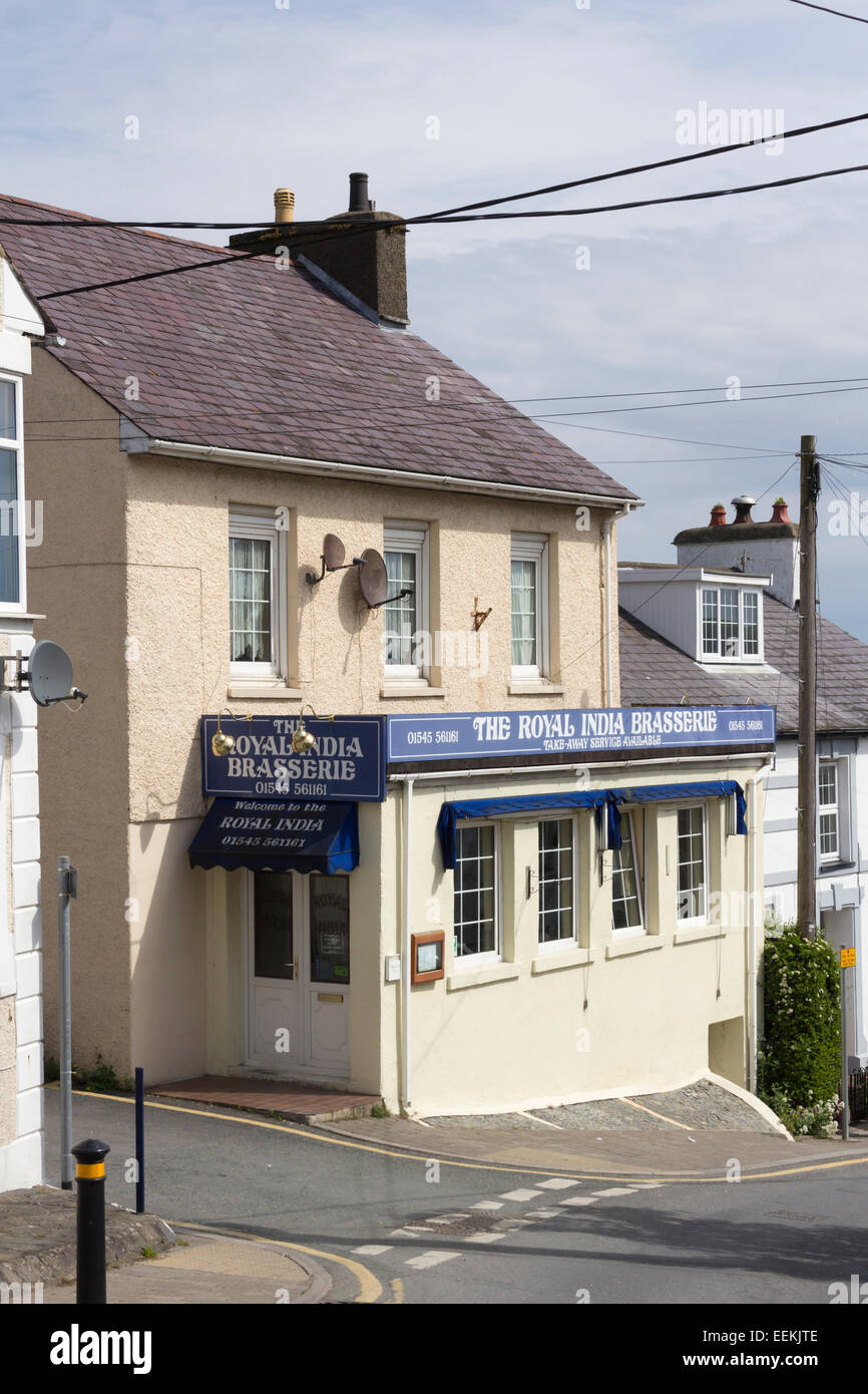 The Royal India Brassiere Indian restaurant on Church Street in New Quay, Ceredigion, Wales. - Stock Image
