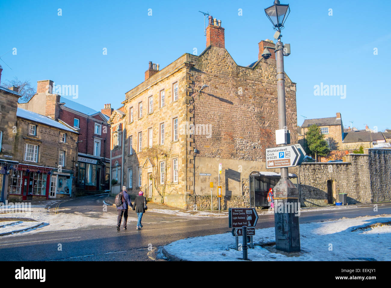 village of Wirksworth in Derbyshire Dales,England Stock Photo