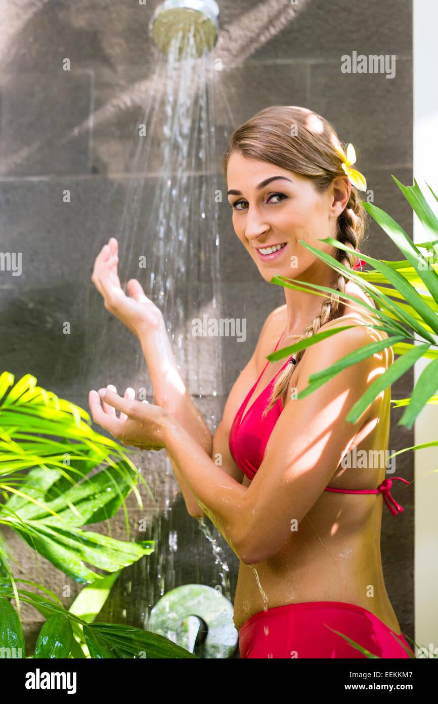 Charming Outdoor bikini showers