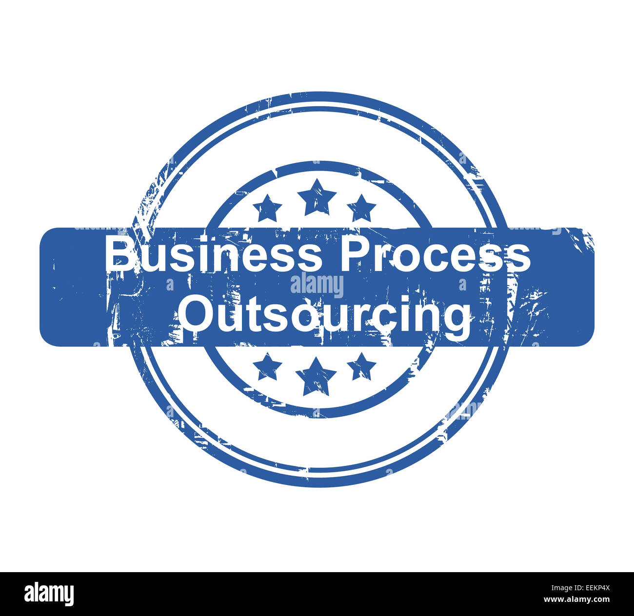 Business Process Outsourcing concept stamp with stars isolated on a white background. - Stock Image