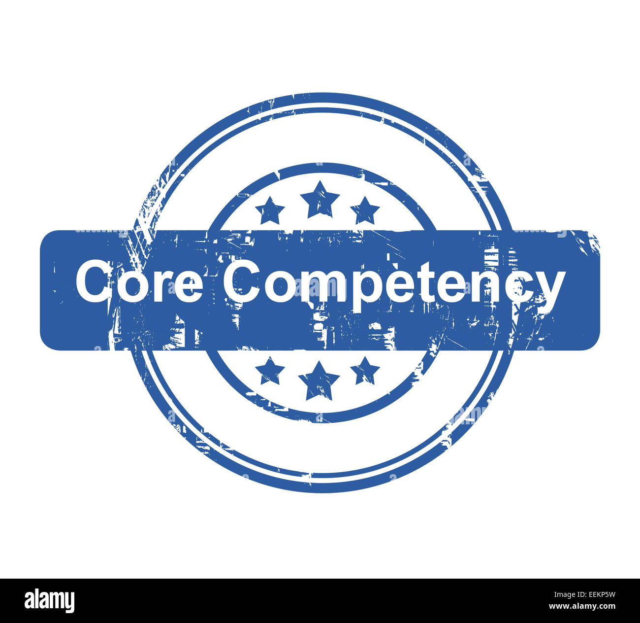 Core competency business concept stamp with stars isolated on a white background. - Stock Image