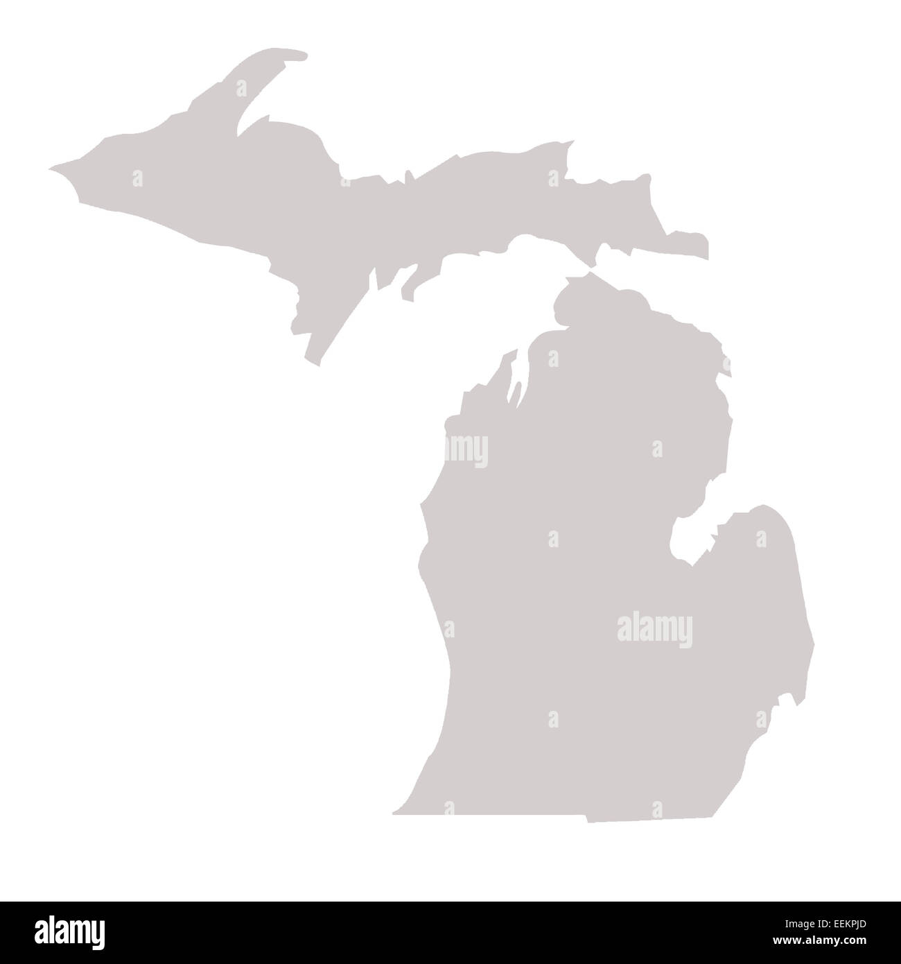 Michigan State Map Stock Photos Michigan State Map Stock Images