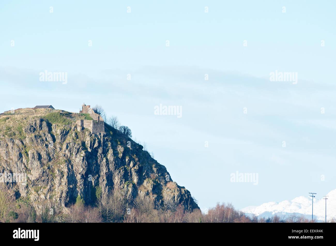 Dumbarton Rock . - Stock Image