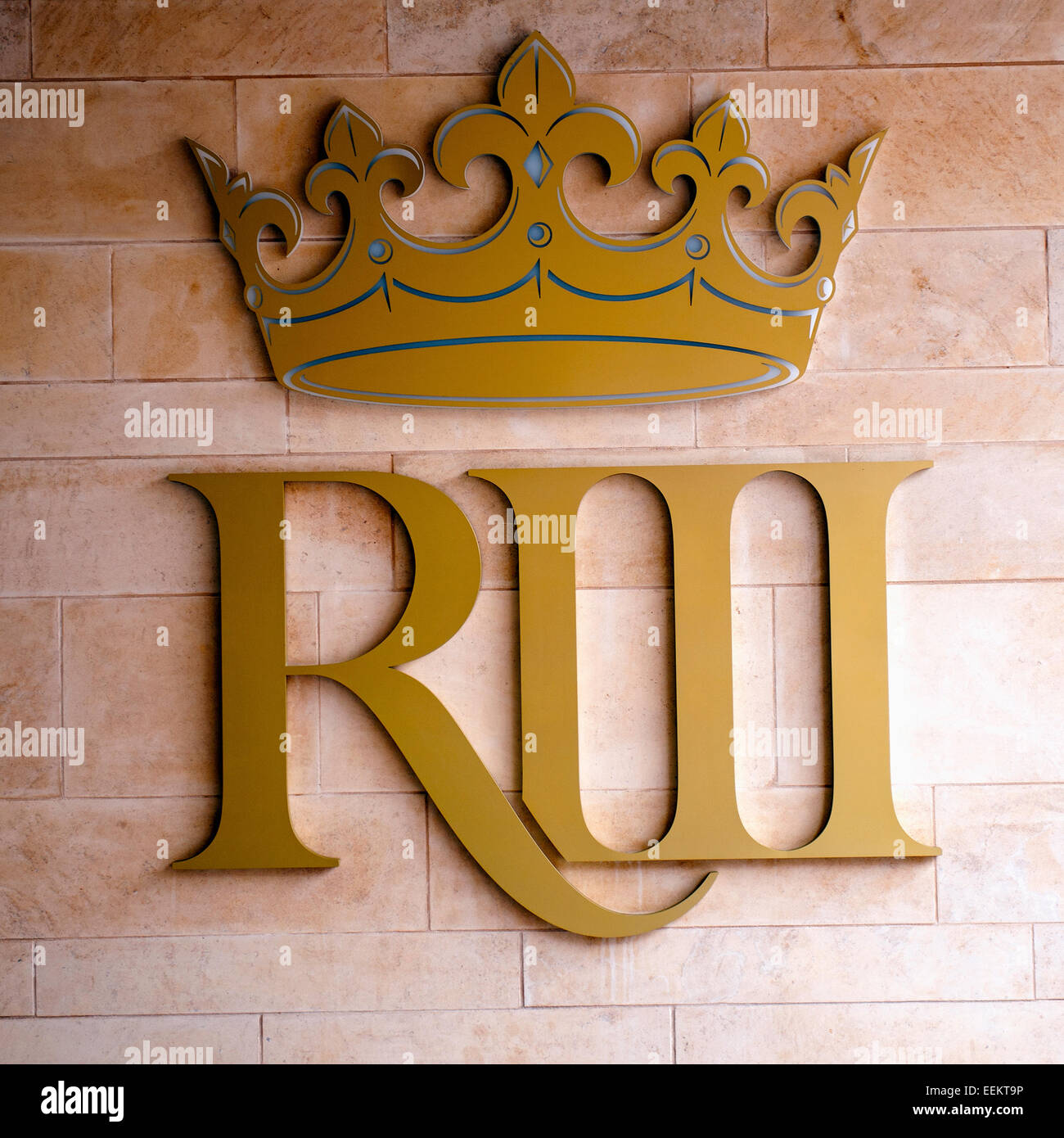King Richard III sign at the entrance of The Visitor Centre in Leicester City - Stock Image