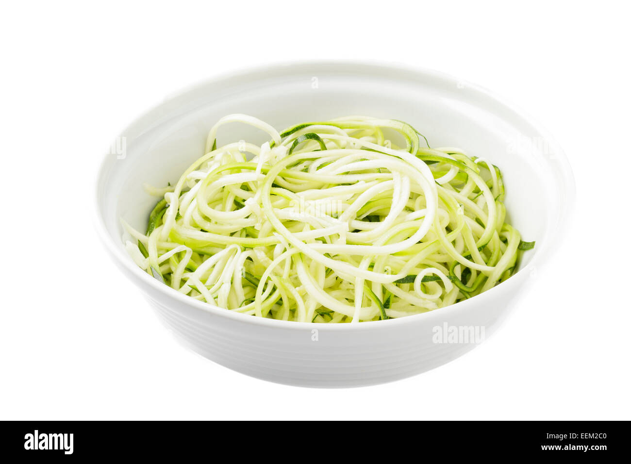 zoodles or zucchini (courgette) noodles - Stock Image