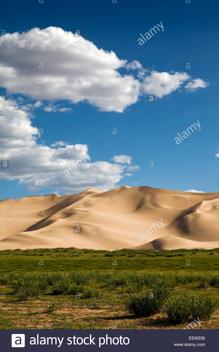 Hongor Sand Dunes, Gobi Desert, Mongolia - Stock Image
