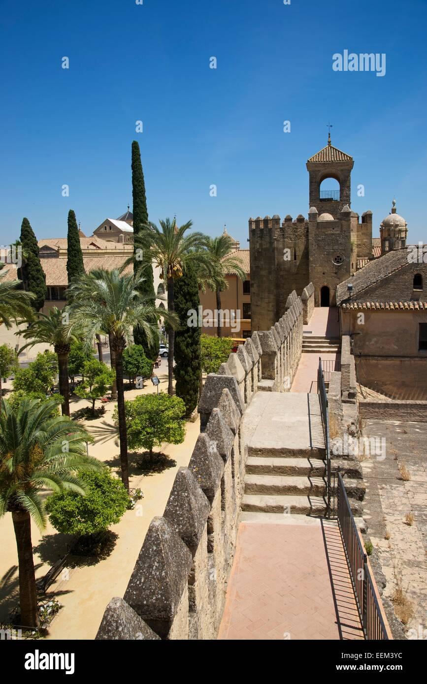 Alcázar de los Reyes Cristianos, Córdoba province, Andalucía, Spain - Stock Image