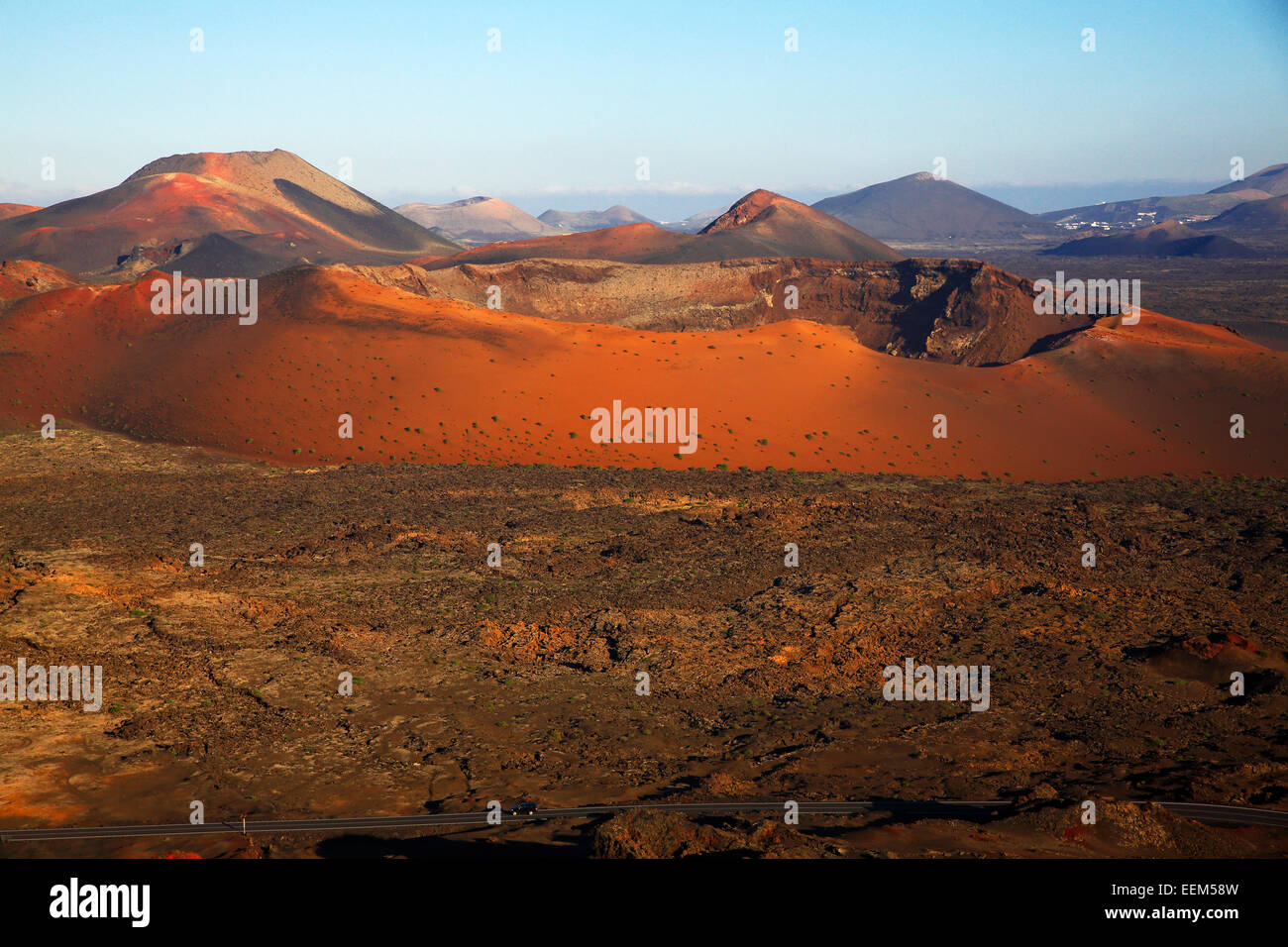 Fire Mountains Montañas Del Fuego Timanfaya National Park Volcanic Stock Photo Alamy