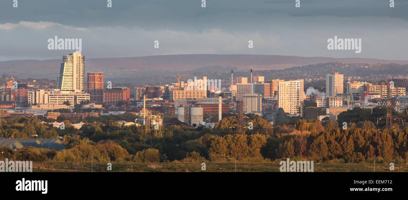 City skyline, Leeds, Yorkshire, England, UK - Stock Image