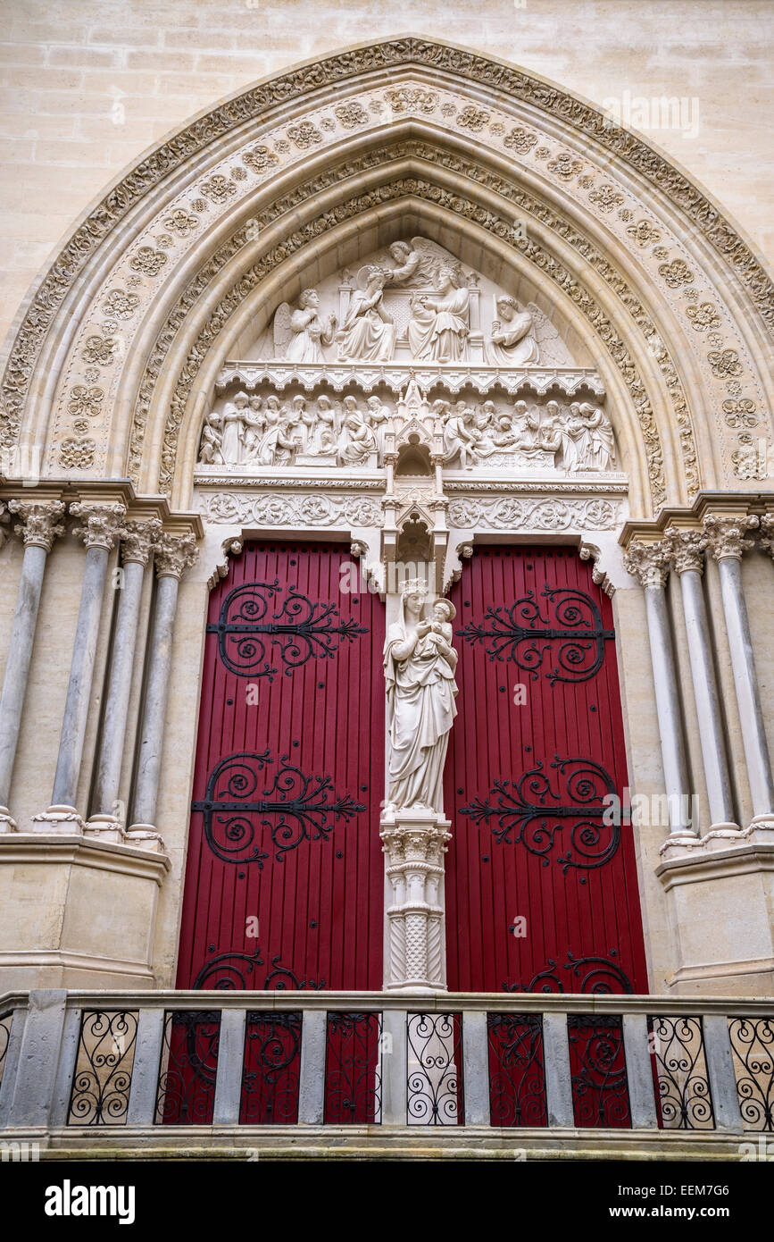 Cathedral Saint Pierre, Montpellier, France - Stock Image