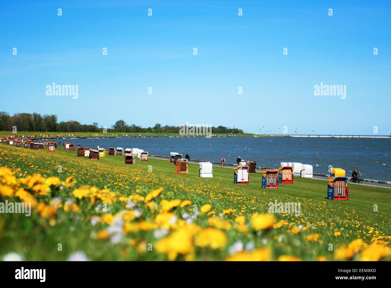 Germany, Cuxhaven, Spring time at seaside - Stock Image
