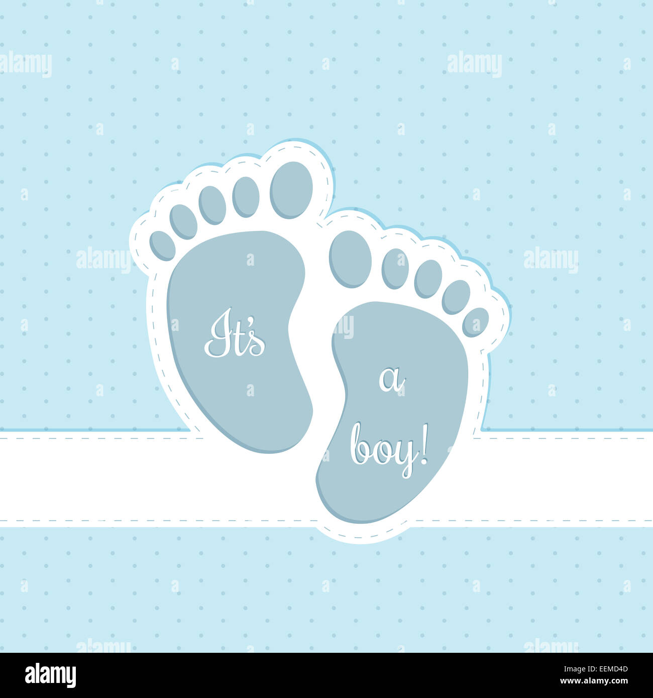 Baby Shower Greeting Card Invitation Design For Baby Boys Stock