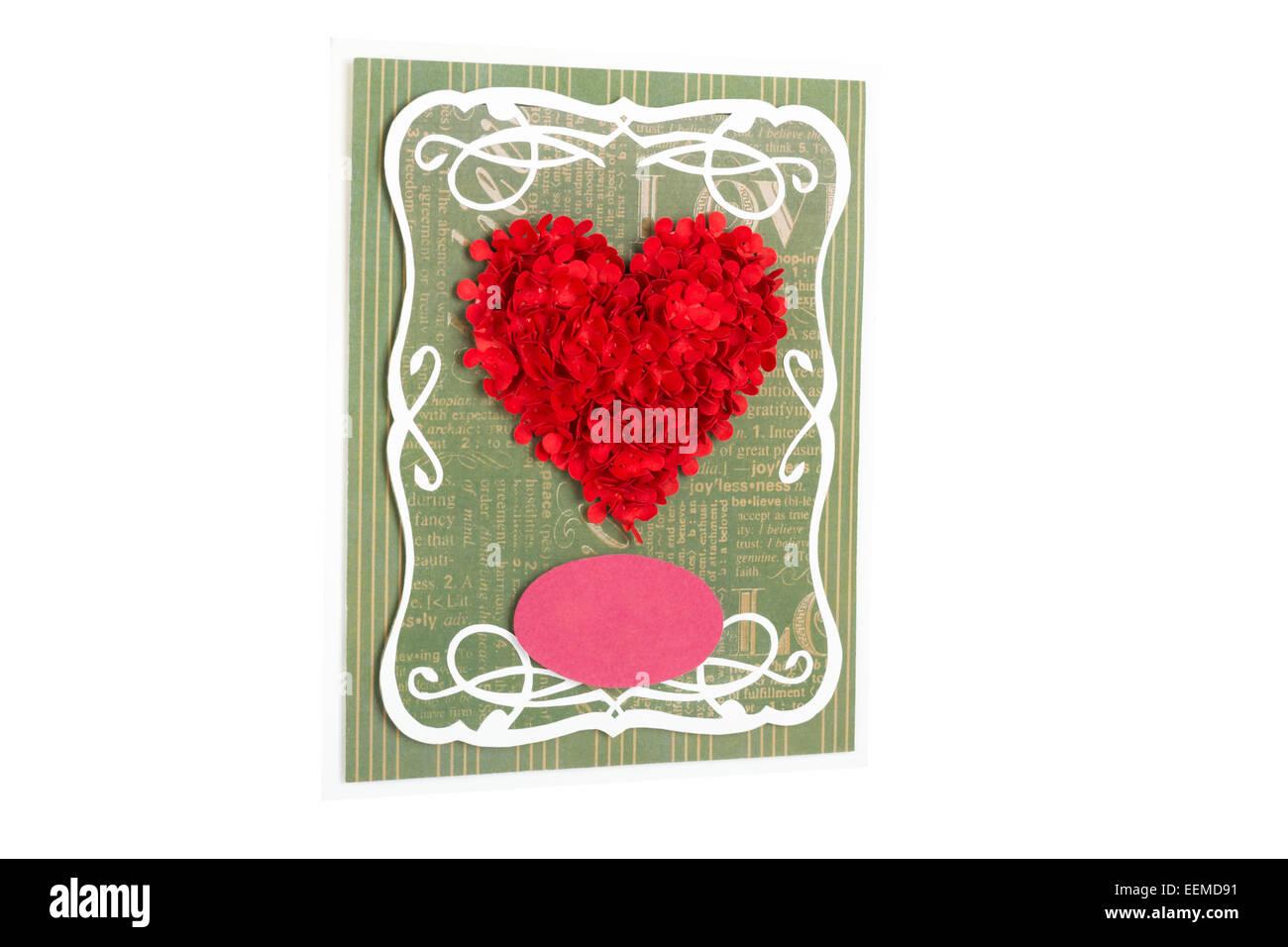 Postcard Valentine's Day - Stock Image