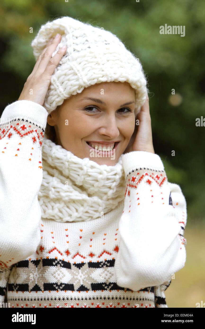 Frau, ausgelassen, jung, 20-30 Jahre, lachen, lachend, Freude, Spass, froehlich, Vergnuegen, Humor, gluecklich, Stock Photo