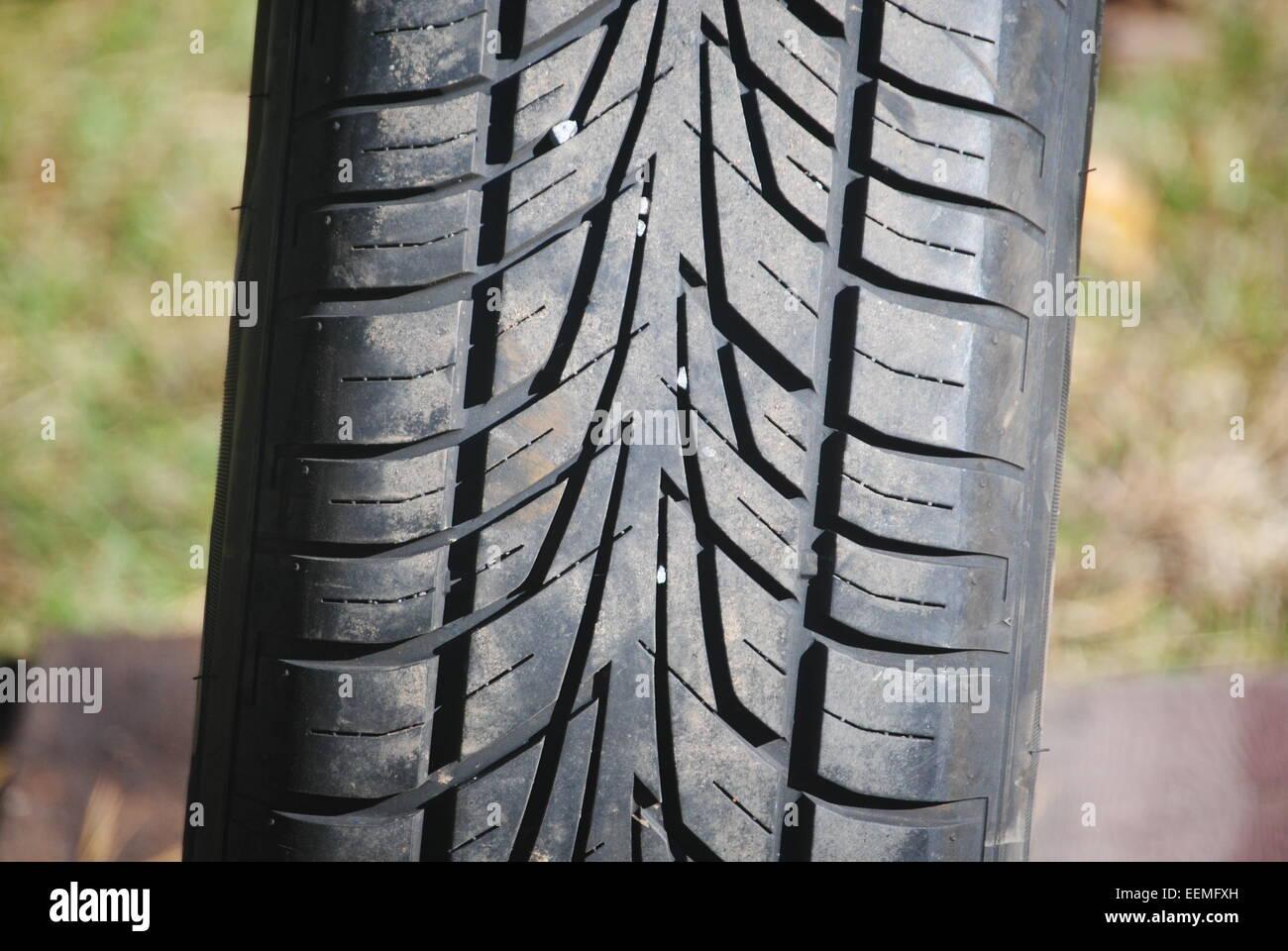 Automotive tire - Stock Image