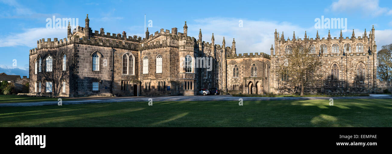 Auckland Castle (the Bishop's Palace or Auckland Palace), County Durham, UK. Recently the seat of the prince - Stock Image