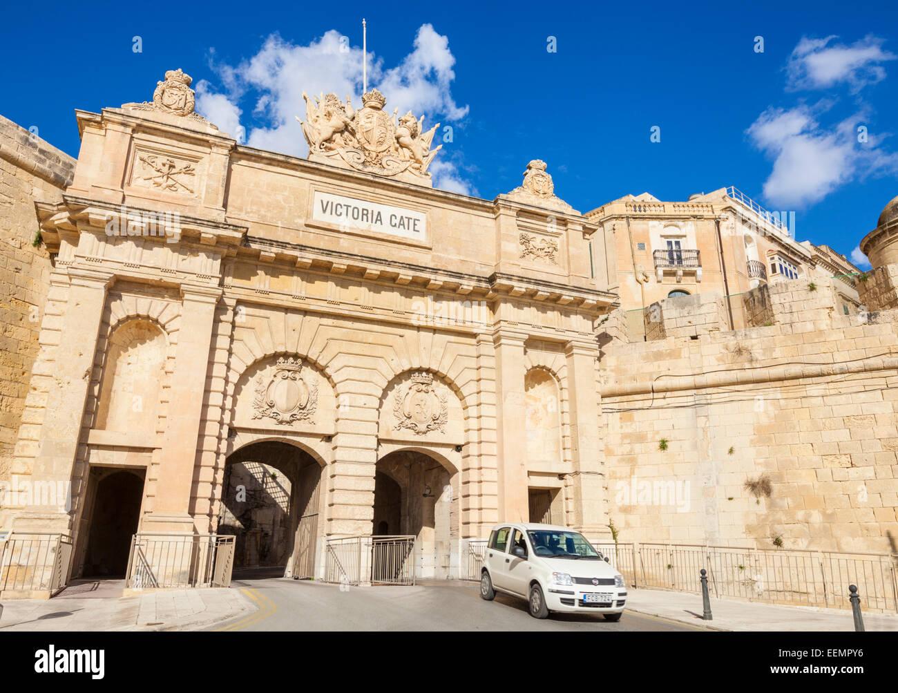 Victoria Gate Valletta Malta EU Europe - Stock Image