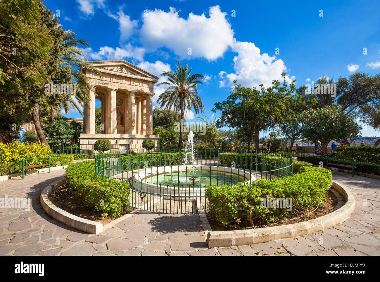 Lower Barrakka Gardens Valletta Malta EU Europe - Stock Image