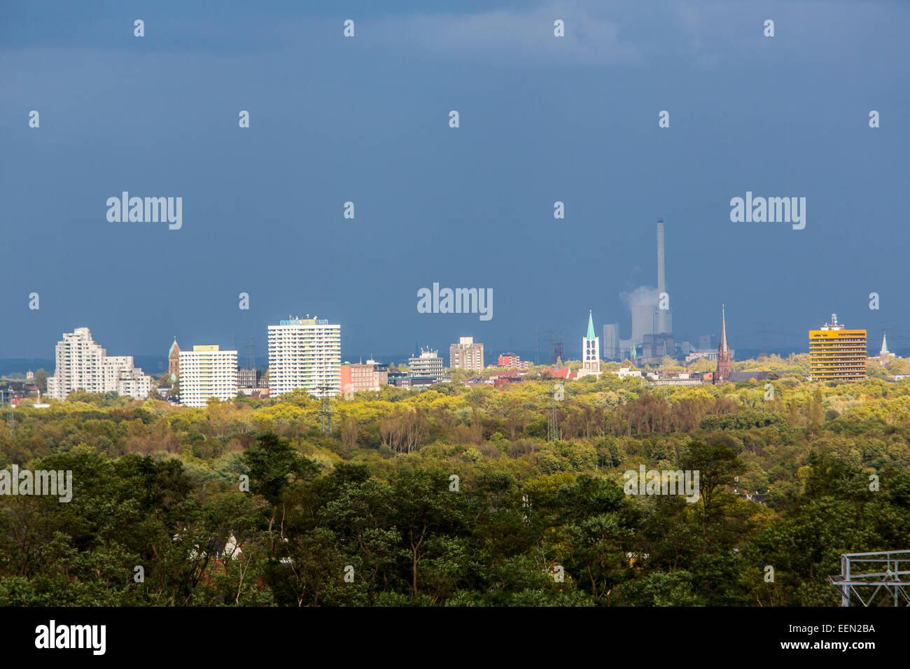 Skyline of Gelsenkirchen, Germany - Stock Image