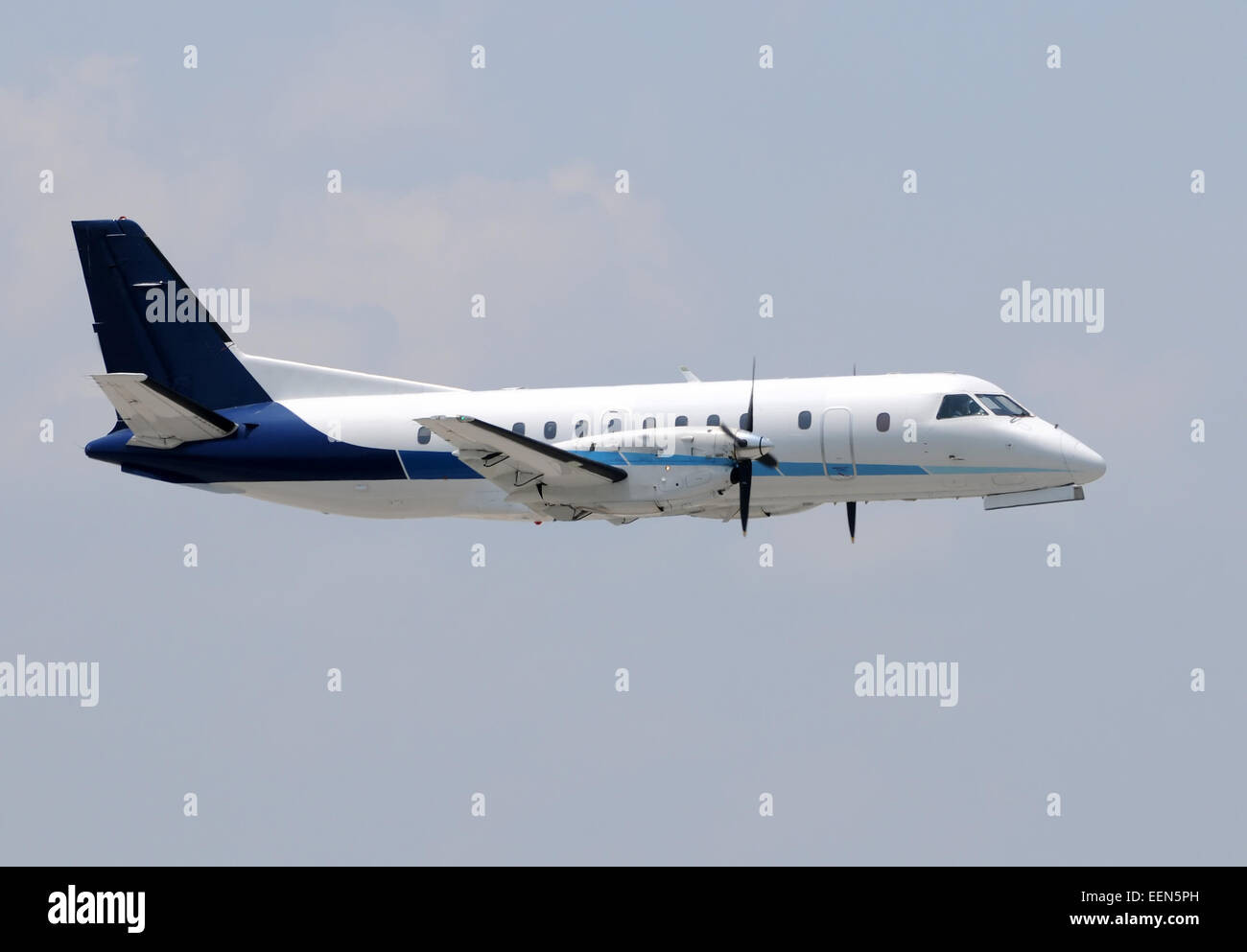 Turboprop airplane used for regional flights - Stock Image