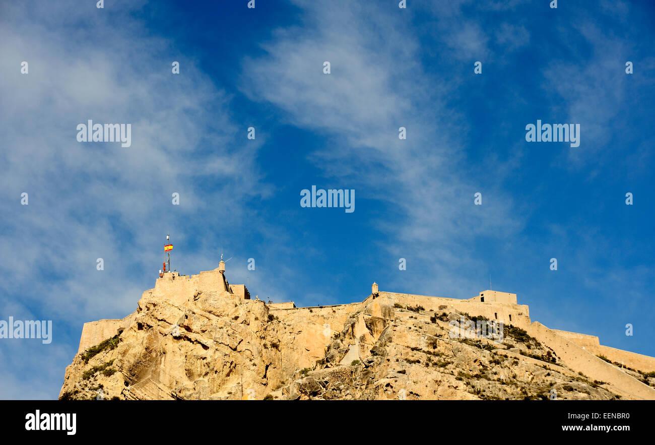 Castle of Santa Barbara (Castillo de Santa Barbara) - Stock Image
