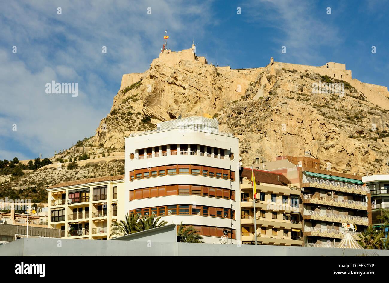 Castle of Santa Barbara (Castillo de Santa Barbara) Alicante Spain - Stock Image
