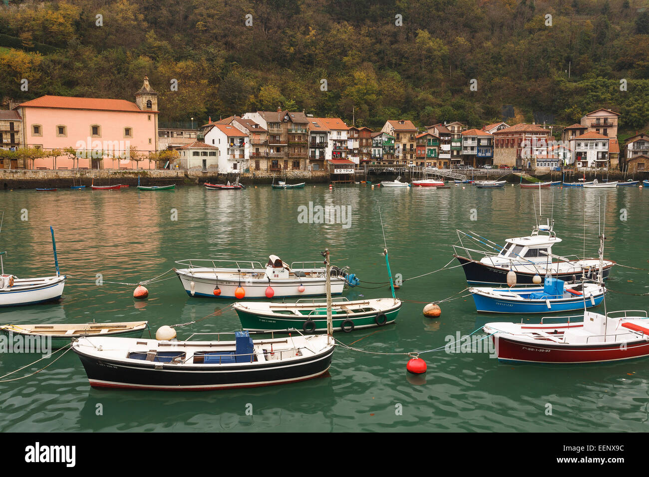 Boat and port. Pasaia. Pasajes de San Juan. Guipuzcoa. Basque country. Spain. Europe - Stock Image