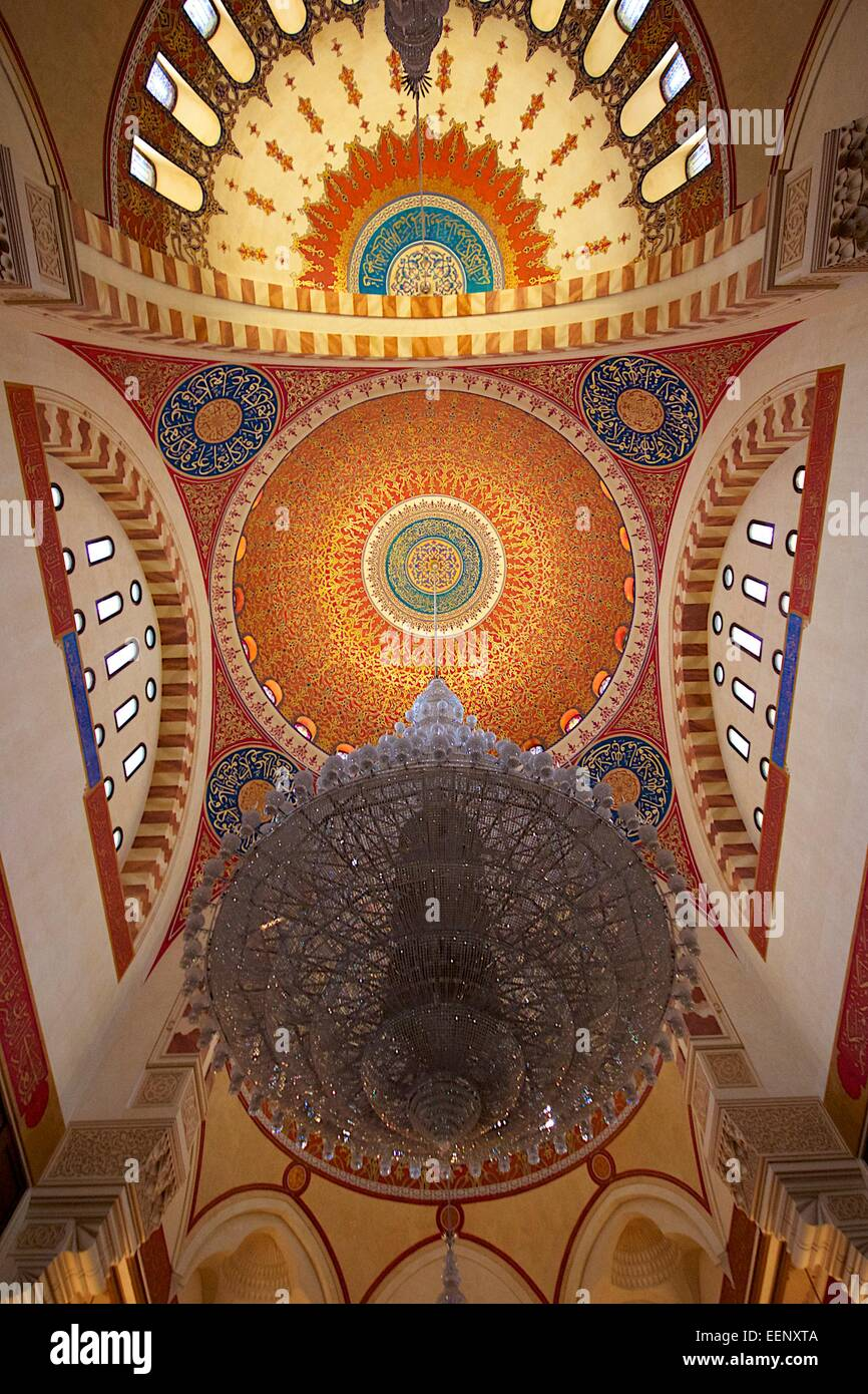 Inside the main mosque in Beirut. Al-Amin Mosquw - Stock Image
