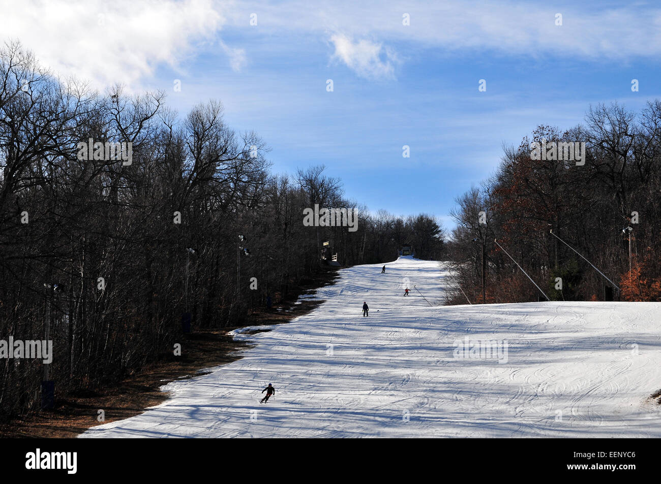 wachusett mountain ski resort in massachusetts, new england, usa