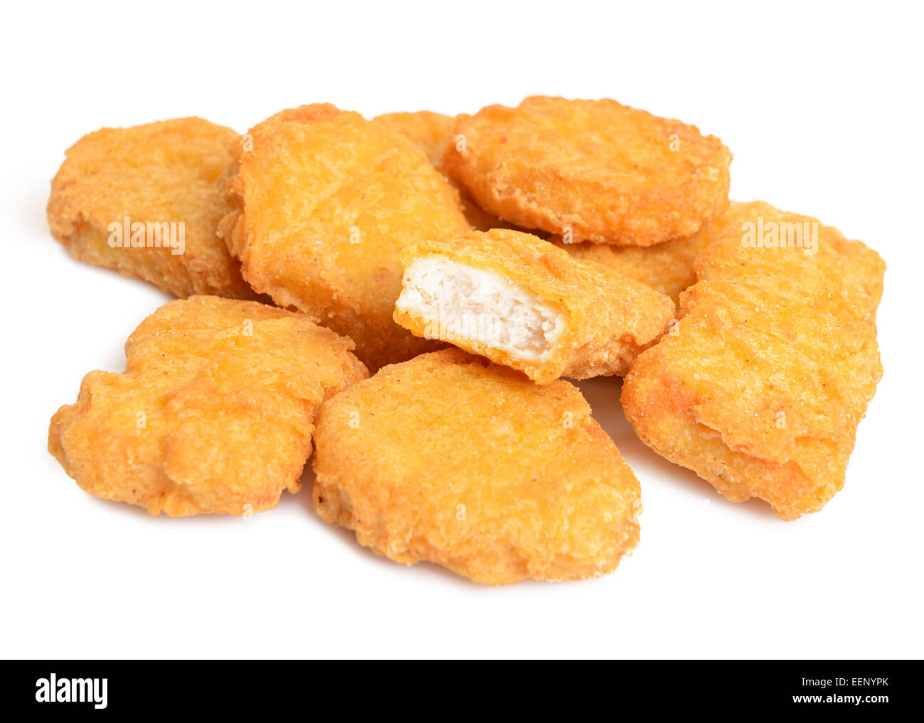 Chicken Nuggets, Cut Out. - Stock Image