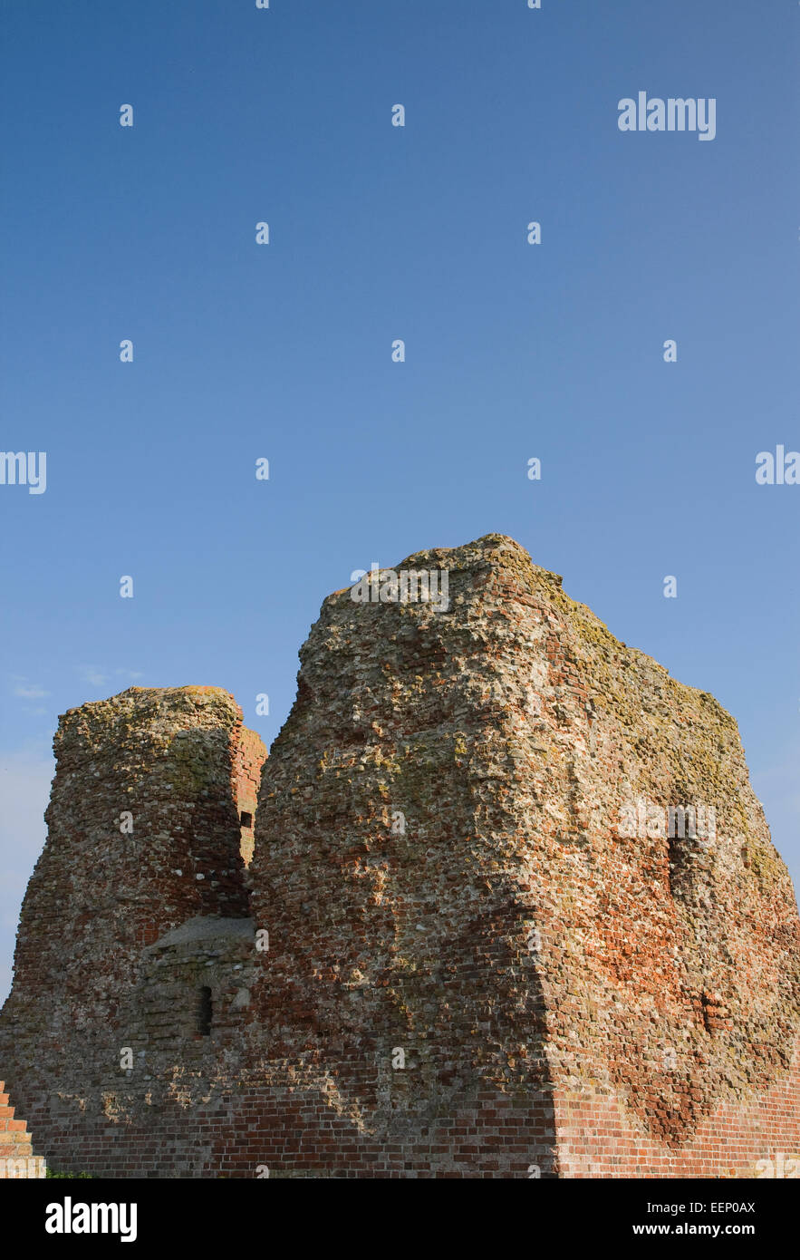 Part of the ruined castle at Kalo near Aarhus, Denmark - Stock Image