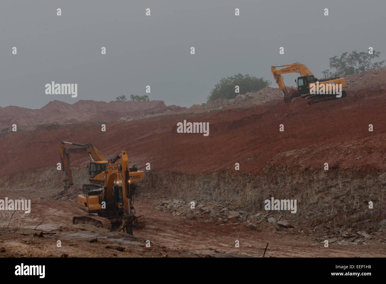 Titanium mine Diani Kenya - Stock Image