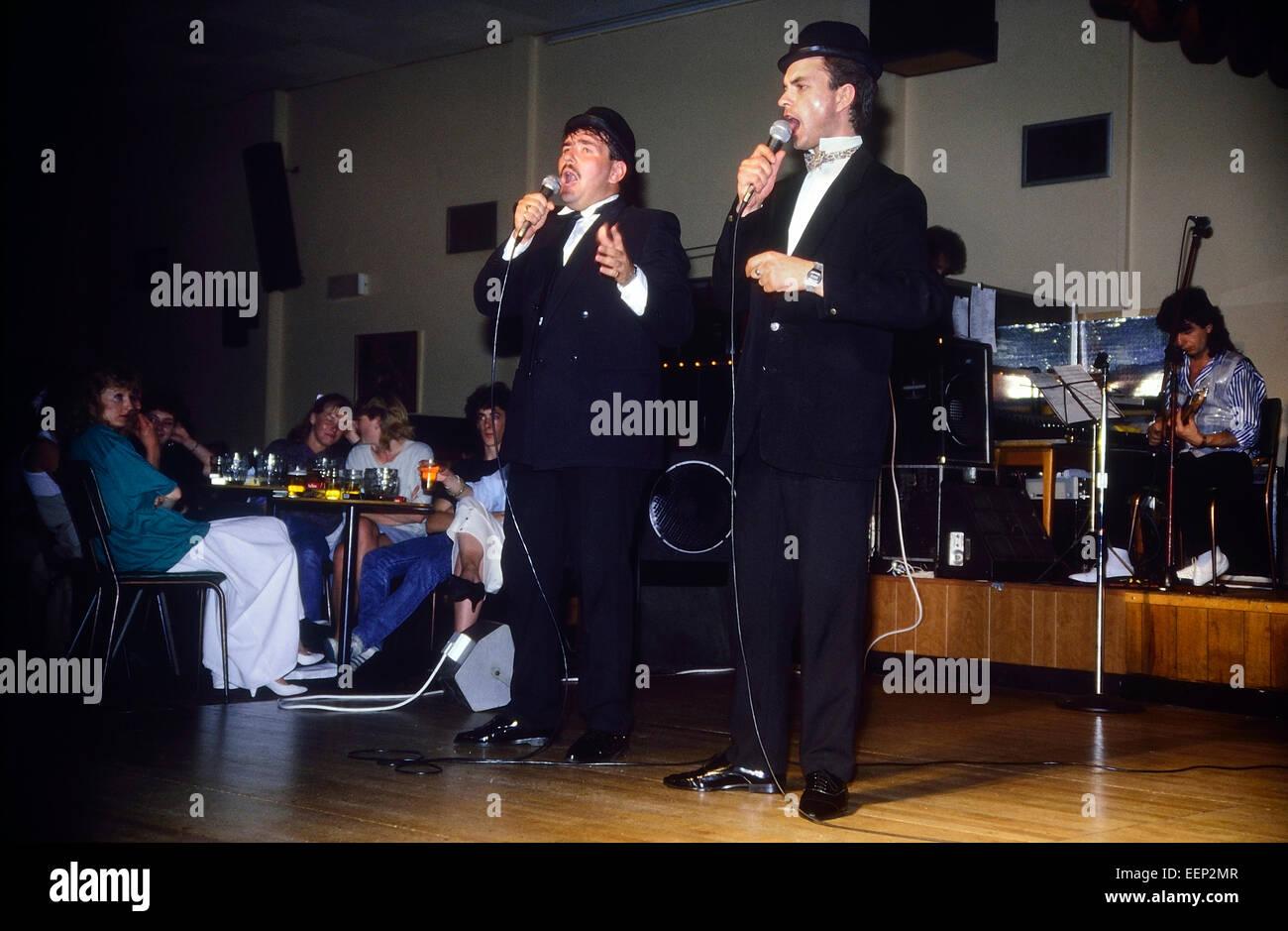 Cabaret entertainment at a Pontins Holiday Camp. Circa 1987. UK - Stock Image