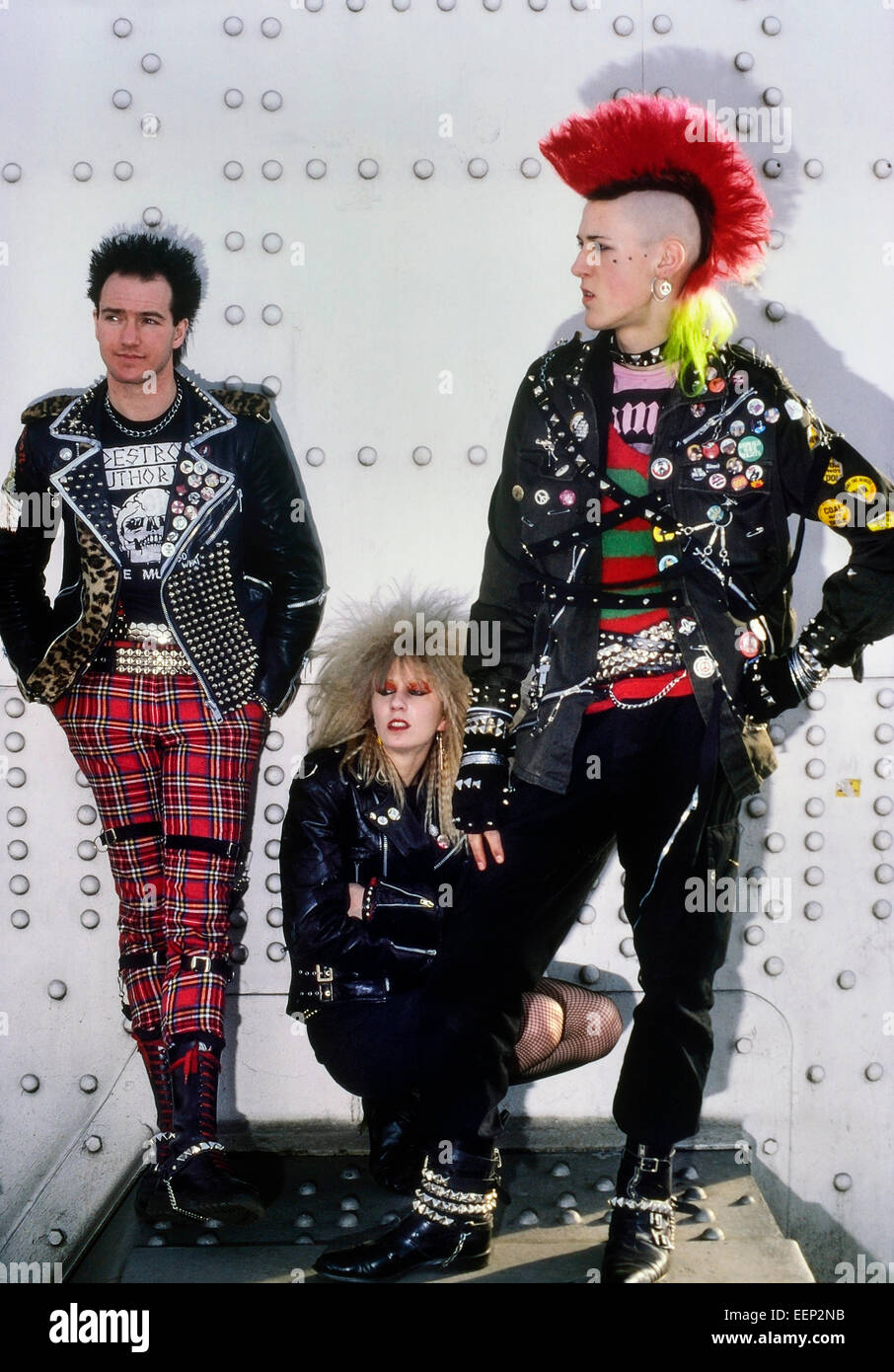 A small group of punk rockers, circa 1980's Stock Photo ...