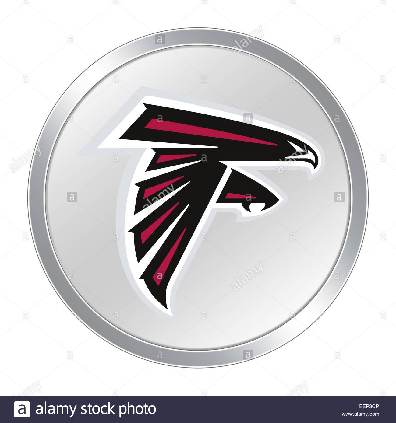 Atlanta Falcons Logo Icon Button Stock Photo 77932310 Alamy