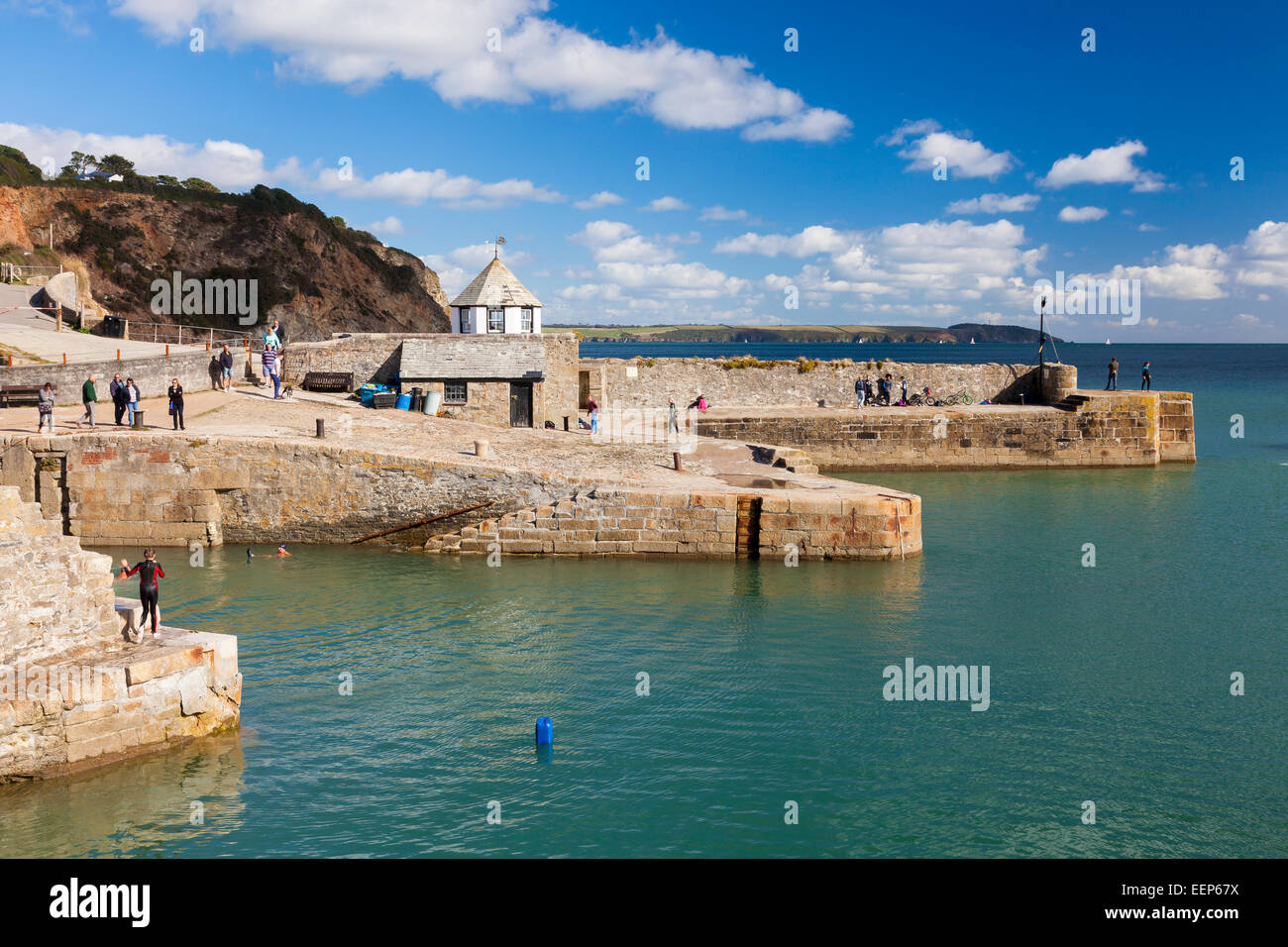 Beautiful sunny summers day at Charlestown Harbour  near St Austell Cornwall England UK Europe - Stock Image