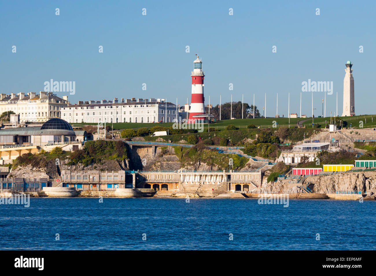 Views accross to Plymouth Hoe from Mount Batten Devon England UK Europe Stock Photo