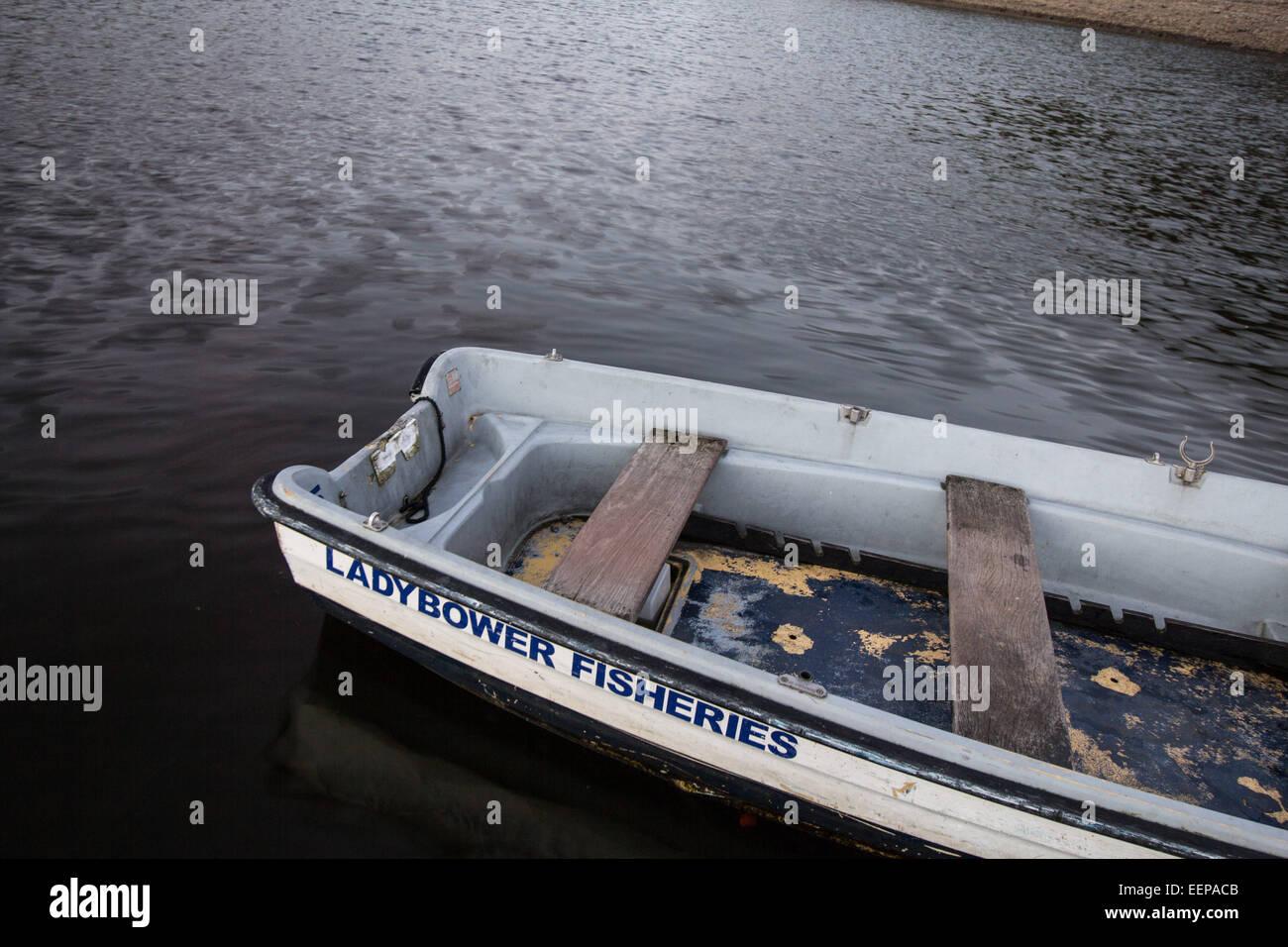 Ladybower Fishing Boat - Stock Image