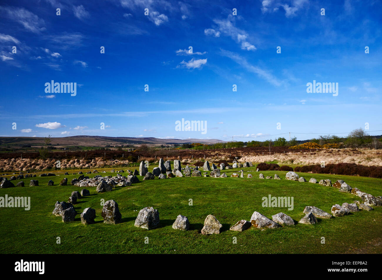 Beaghmore stone circles county tyrone northern ireland - Stock Image