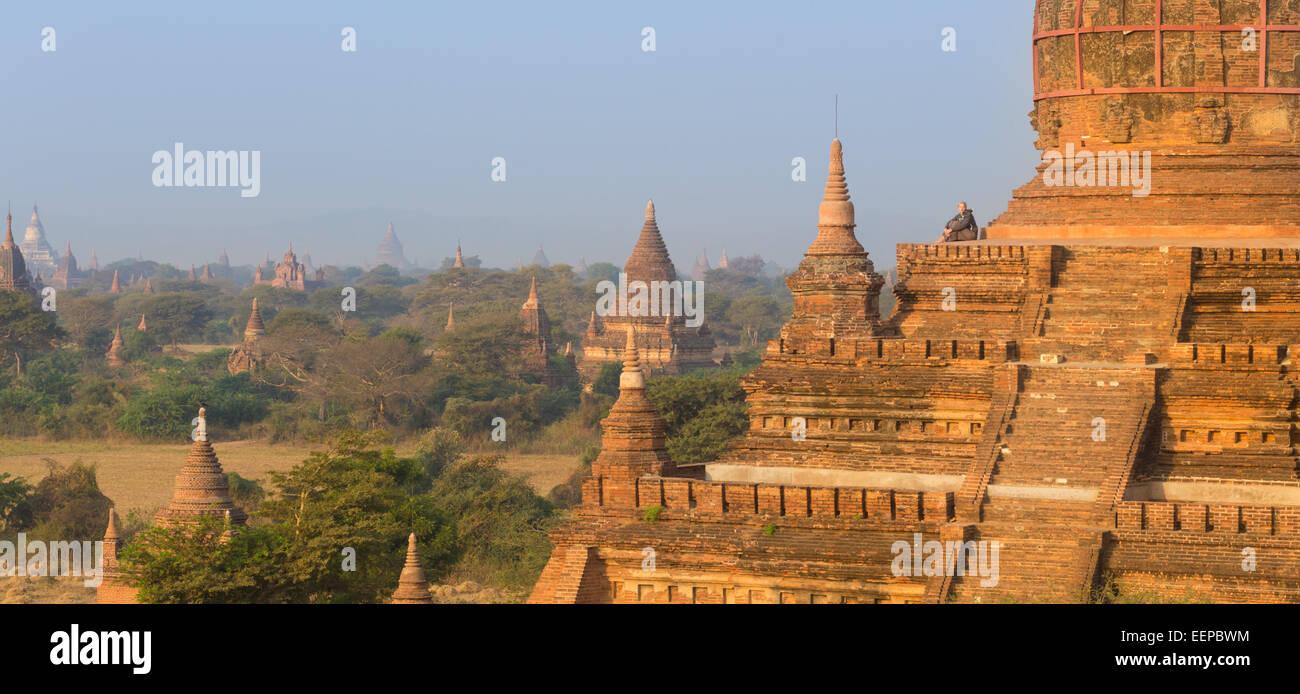 Tamples of Bagan, Burma, Myanmar, Asia. - Stock Image