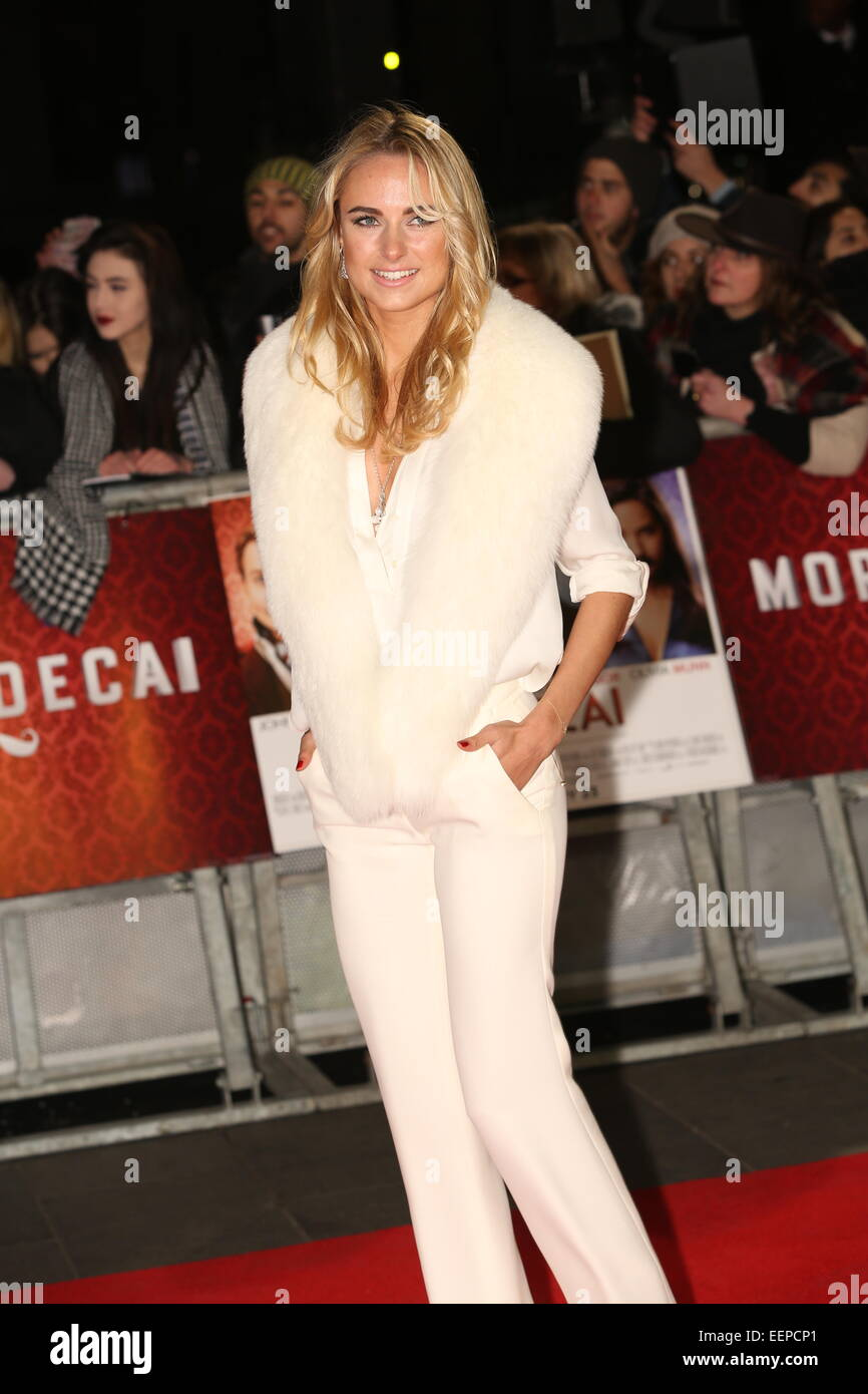 London, UK. 19th Jan, 2015. kimberley garner attends the UK Premiere of MORTDECAI at The Empire Leicester Square, - Stock Image
