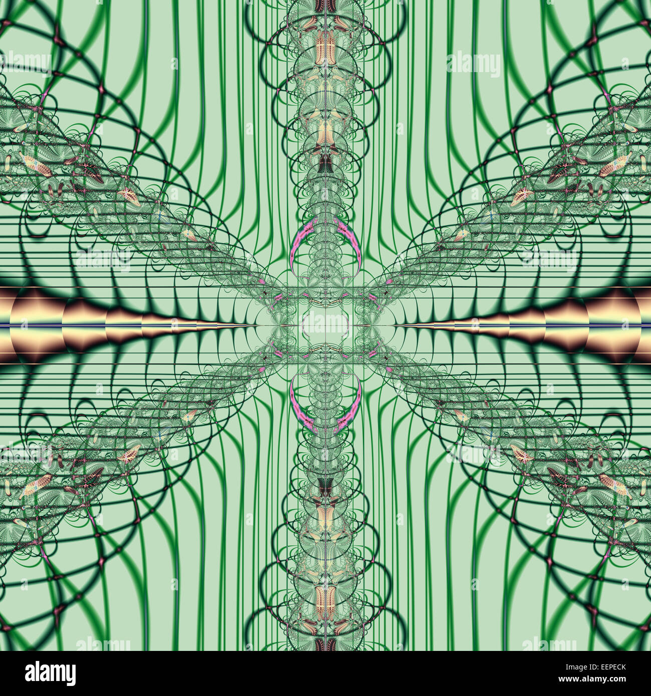Digitally generated abstract pattern - Stock Image