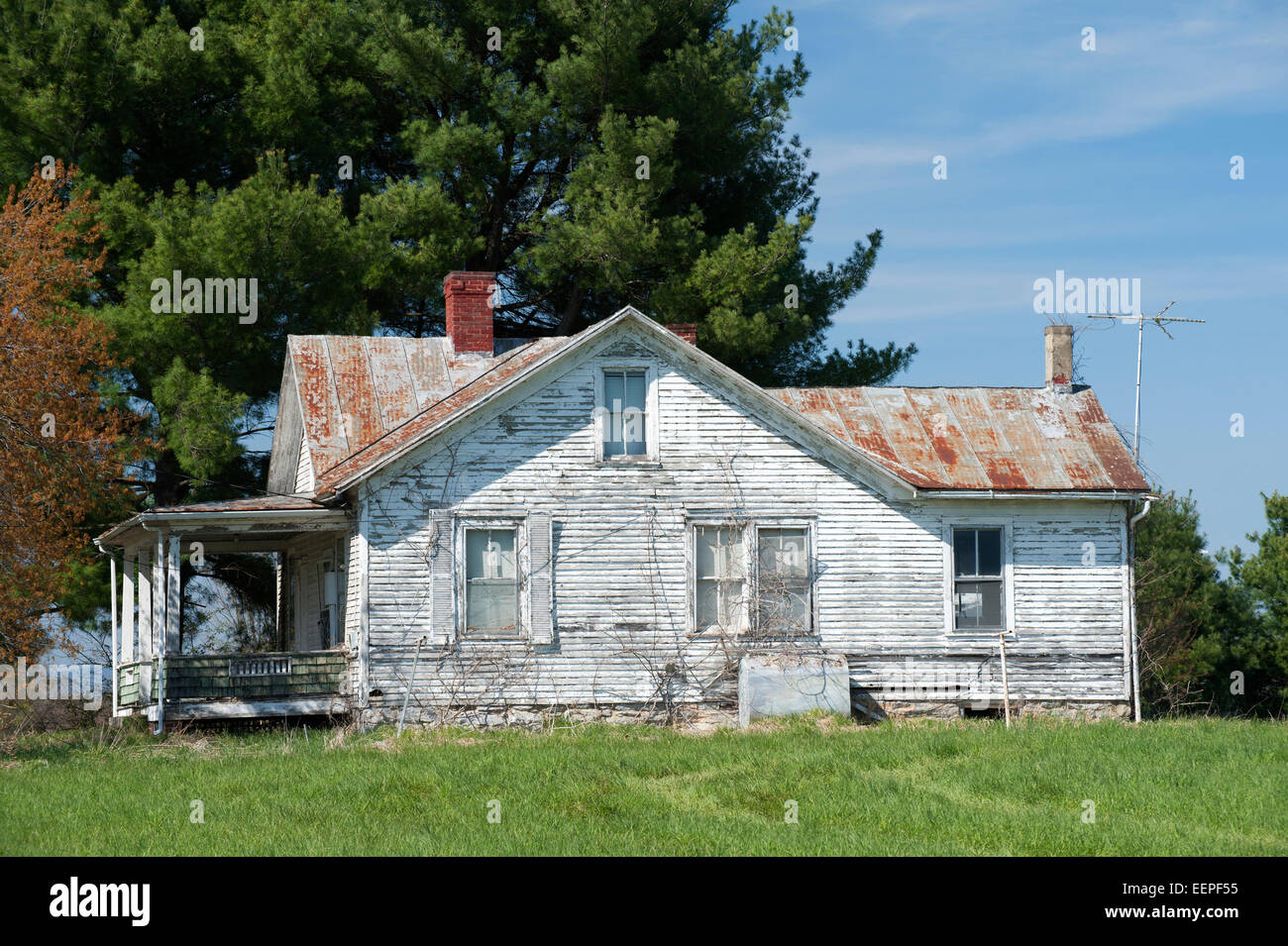 Abandoned house, Shenandoah Valley, Virginia, USA. - Stock Image