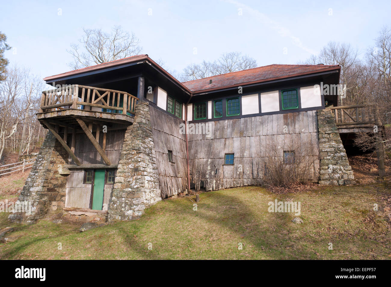 Massanutten lodge at Skyland Resort, in the Blue Ridge Mountains of Virginia. Stock Photo