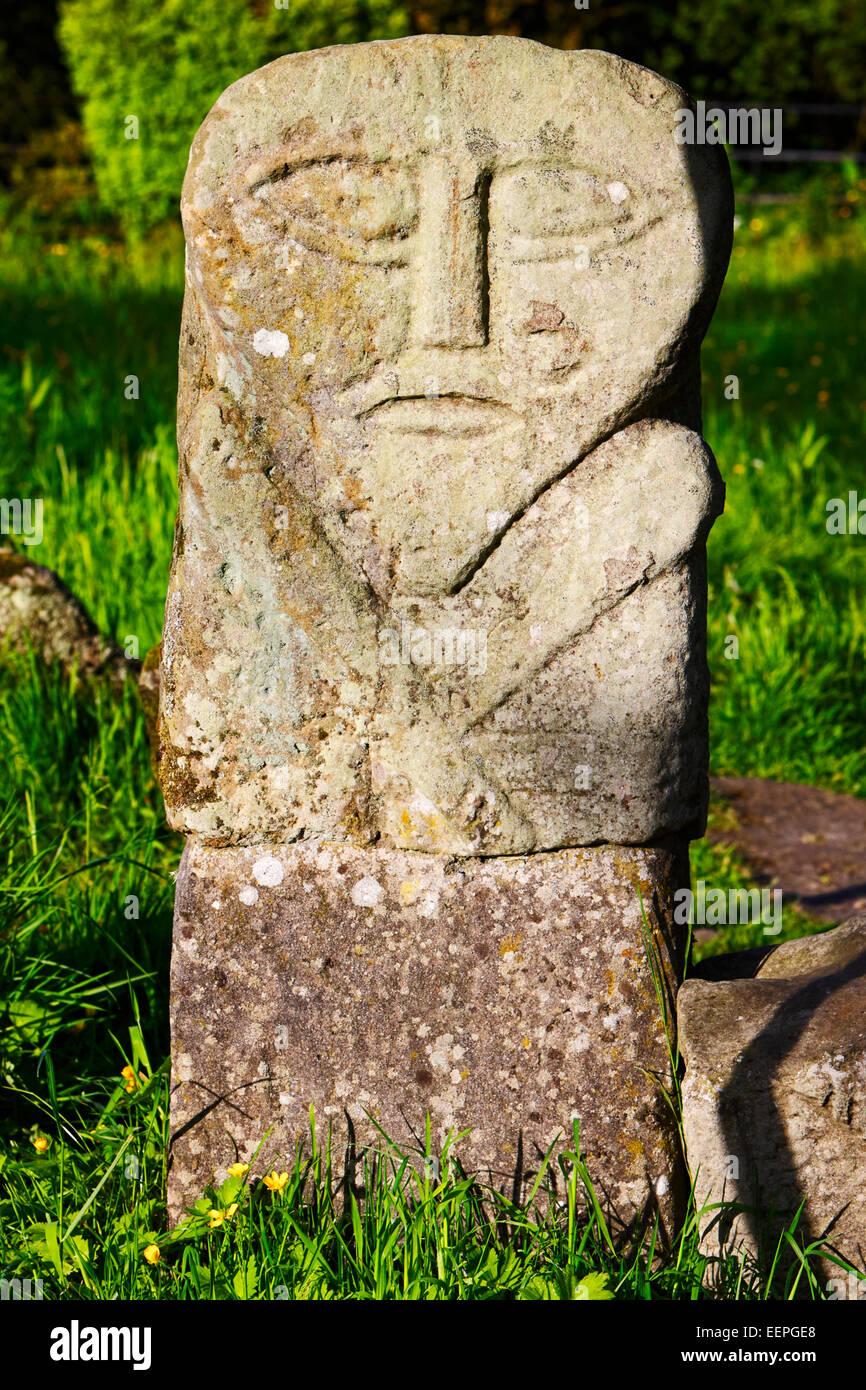 the janus stone boa island fermanagh ireland - Stock Image