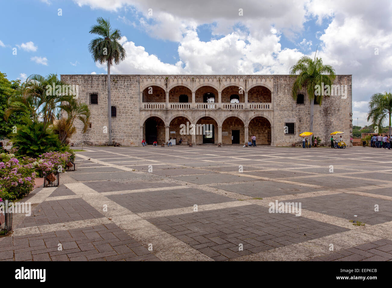 Alcázar de Colón, or Columbus Alcazar, 1510-1512, the oldest Viceregal residence in America zona Colonail, UNESCO Stock Photo
