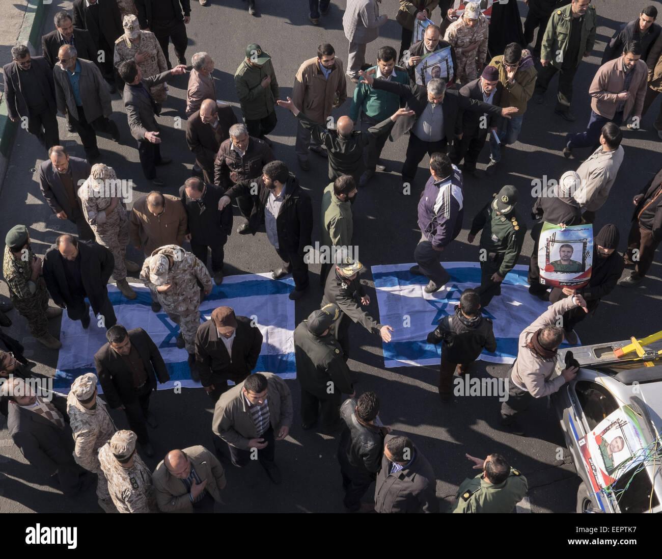 Tehran, Iran. 21st Jan, 2015. January 21, 2015 - Tehran, Iran - Iranians and members of the Revolutionary Guard - Stock Image
