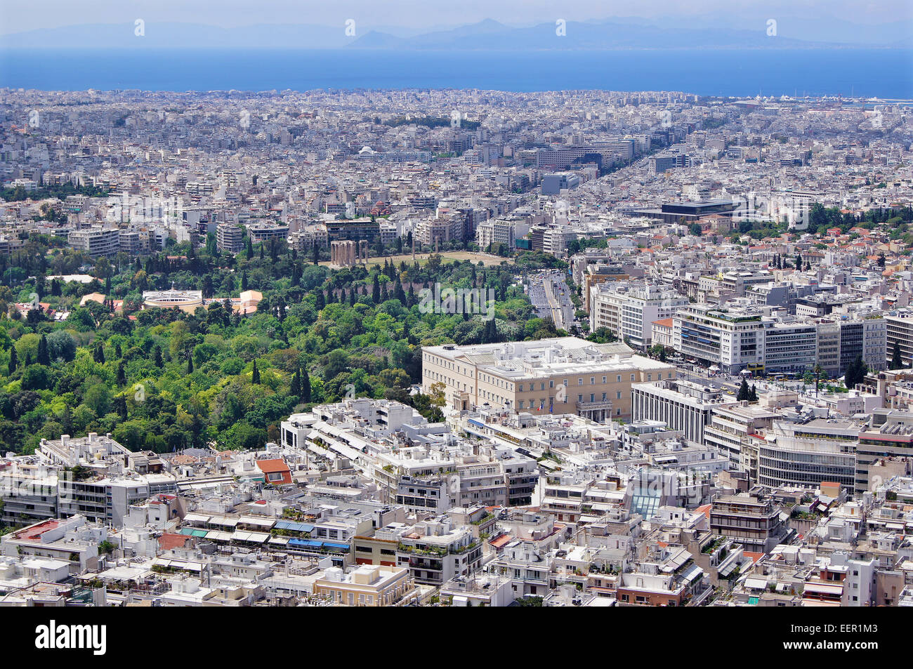 Outlook over Athens - Stock Image