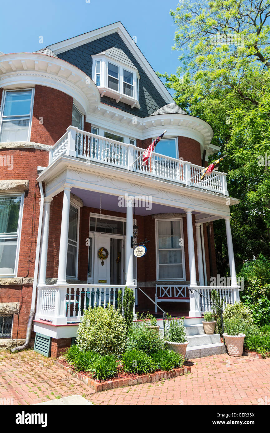 Maryland, Annapolis, National Historic District, The Inn at 30 Maryland, B&B, accommodation, lodging - Stock Image