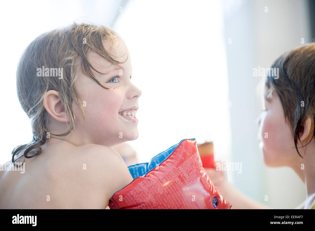 in the bathhouse, bathing, adventure bath - Stock Image